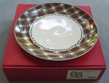 FOUR Nikko Tartan Christmas Plaid Dinner Plates NIB