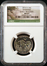 2016-S 25C Shawnee - NGC MS 67 - America the Beautiful Quarter - Early Releases