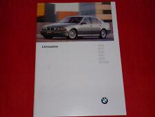 BMW 5er E39 Limousine 520i 523i 528i 535i 540i 525tds Prospekt von 1996