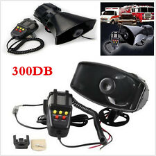 Max 300db 12V Loud Horn Car Van Truck 5 Sound Tone Speaker With PA System Mic