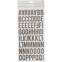 American Crafts Stay Colorful Thickers Glitter Chipboard Alpha Bonjour 346487