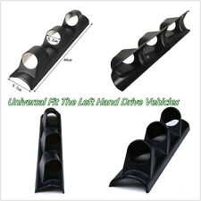 Black 3-Holes 52mm Autos A Pillar Pod Gauge Holder For Left Hand Drive Vehicles