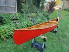 CHESTNUT CANOE CRONJE MODEL Wood and Canvas Canoe 17FT Like Old Town