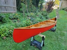 New listing CHESTNUT CANOE CRONJE MODEL Wood and Canvas Canoe 17FT Like Old Town