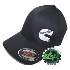 264aae29c15c6 XL XXL Dodge Cummins BLACK trucker hat ball cap flex fit cumming flexfit  stretch