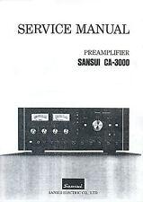 SANSUI CA-3000 CA 3000 SERVICE MANUAL & SCHEMATIC