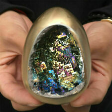 Rainbow Bismuth Ore Egg Quartz Crystal geode Mineral Specimen Reiki Healing 1pc