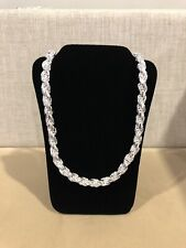 .925 Sterling Silver Men's Thick Twisted Rope Torzal Chain 24""