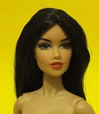 2012 Fashion Royalty Nude Doll by Integrity long black hair