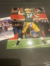 Green Bay Packers Aaron Rodgers AUTOGRAPHED  8x10 color photo  JSA COA GLOSSY