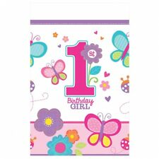 Sweet 1st Birthday Girl Plastic Tablecover Pink Official Party Product Amscan