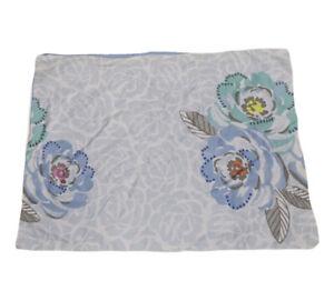 Standard Pillow Sham Decorative Pillowcase (1) AQ Textiles Light Blue Floral