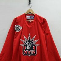 Vintage New York Rangers Centre Ice CCM Jersey Size 2XL Red NHL Lady Liberty
