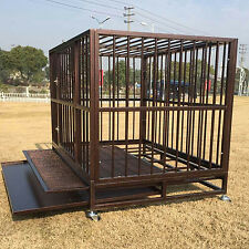 "XXL 42"" Dog Crate Kennel Heavy Duty Pet Cage Playpen w/ Metal Tray Exercise Pan"