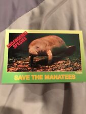 New Unposted Endangered Species. Save The Manatee Postcard. Florida