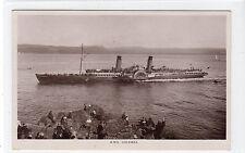 PADDLE STEAMER RMS COLUMBA [AT DUNOON]: Argyll postcard (C10621)