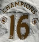 Sporting id 2015/16 Leicester City CHAMPIONS 16 Gold Shirt Print Set + Patches