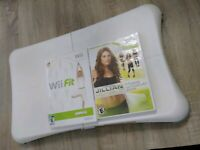 Wii Exercise Bundle Balance Board & 2 Games Wii Fit Jillian Michaels Fitness Ult