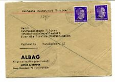 "German Occupation Ukraine 1942 6pf. + 6pf. cover ""Christinovka"" to Kattowitz"