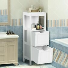 Floor Cabinet Bathroom Storage Organizer Closet Standing Shelf Rack W/2 Drawers