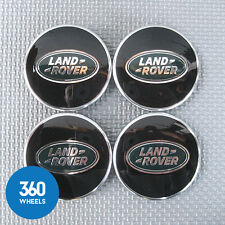 4 NEW GENUINE LAND ROVER ALLOY WHEEL CENTRE CAPS BLACK GREEN RANGE LR069899
