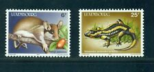 Luxembourg 1987  Animals Dormouse Salamander Agrion Dipper Bird SC 763-6 MNH