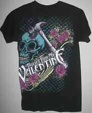 BULLET FOR MY VALENTINE AUTHENTIC 2013 HAMMER SKULL TOUR SHIRT SMALL EX COND