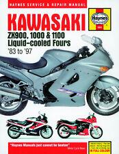 Haynes Manual Kawasaki GPz900R GPz1000R ZZR1100 ZX-10 SERVICE WORKSHOP MANUAL