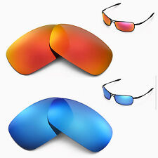New Walleva Polarized Fire Red + Ice Blue Lenses For Oakley Crosshair 2.0
