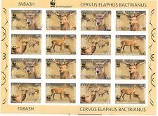 CERVO - BACTRIAN DEER TAJIKISTAN & WWF 2009 sheetlet B