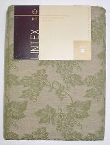"Lintex 100% Cotton Tablecloth ~ Green Grapevines ~ 60"" x 84"" Rectangular *NEW*"