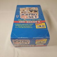 1991 Pro Set NFL Football Cards Series 1 Factory Sealed Box with 36 Packs