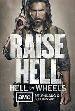 Hell on Wheels AMC TV Poster (24x36) - Anson Mount, Colm Meaney, Phil Burke NEW