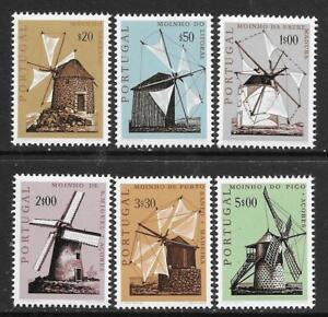 PORTUGAL - 1971.  Portuguese Windmills - Set of 6, MNH