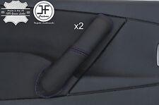 Purple Stitch 2X Avant Poignée Porte Couverture en cuir pour CITROEN XSARA PICASSO 04-10