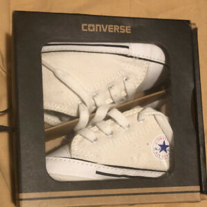 Converse Kids' First Star High Top Sneaker Color WHITE