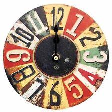 Orologi da parete marrone a batteria 12 ore