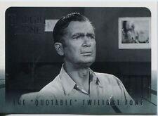 Twilight Zone Series 4 S&S Quotable Twilight Zone Chase Card Q13