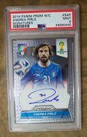Panini 2014 Pirlo Autograph PSA 9 Soccer Card