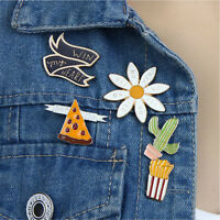 5pcs Women Corsage Brooches Pins Collar Pin Badge Cartoon Flower Jewellery