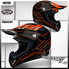 CASCO CROSS ENDURO MOTARD AIROH SWITCH SPACER ORANGE GLOSS 2017 TAGLIA M