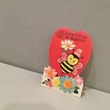 Vintage Valentine Card Anthropomorphic Mod Bumble Bee Just Buzzin Unused