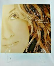 """Vintage 1999 Celine Dion 12x12 """"All The Way A Decade Of Song"""" Poster Flat"""