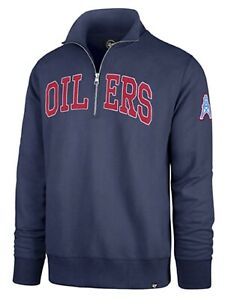 Houston Oilers NFL '47 Upstate Striker 1/4 Zip Sweater Jacket Men's XXXL 3XL