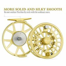 Fly Fishing Reel with CNC-machined Aluminum Alloy Body 3/4, Gold Piscifun Blaze