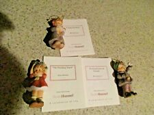 Lot of 3 Berta Hummel Figurine 1999 Goebel Christmas Ornament Collection Figurin