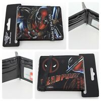 Buckle-Down Men's Bi-fold Wallet Marvel's Deadpool Wallet Card Slots Brand New