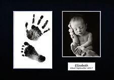 Personnalisé newborn main imprimé empreinte kit baby shower cadeau baptême