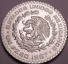Huge Gem Unc Silver Mexico 1967 Peso~INDEPENDENCIA Y LIBERTAD~Fantastic~Free Shi