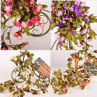 Artificial Fake Silk Rose Flowers Vine Party Home Hanging Garland Wedding Decor
